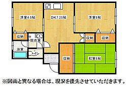 福岡県北九州市小倉北区上到津1丁目の賃貸マンションの間取り