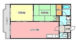 グリーンハイツ須賀[1階]の間取り