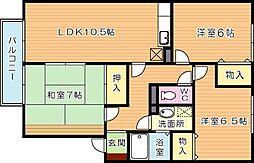 グランコンフォール[2階]の間取り