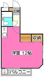 煉瓦館87[3階]の間取り