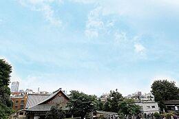 北東側の眺望、高台に位置しているため眺望良好