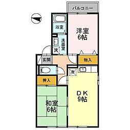 オーセードル B[1階]の間取り