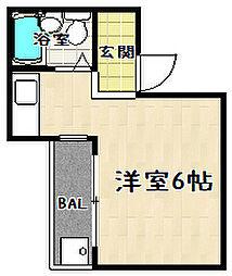 ドミール東野[306号室]の間取り