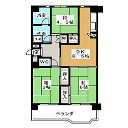 大幸東団地107号棟[3階]の間取り
