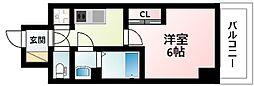 JR東海道・山陽本線 新大阪駅 徒歩8分の賃貸マンション 13階1Kの間取り