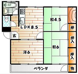 センチュリーハイツ[1階]の間取り