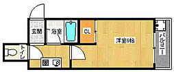 京都府京都市上京区西石屋町の賃貸マンションの間取り
