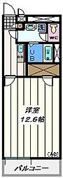 東京都足立区本木西町の賃貸マンションの間取り