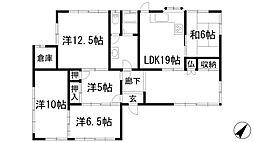 [一戸建] 兵庫県川西市緑が丘1丁目 の賃貸【兵庫県 / 川西市】の間取り