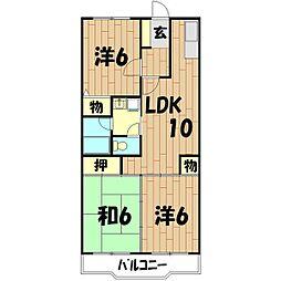 神奈川県横浜市瀬谷区南台1丁目の賃貸マンションの間取り