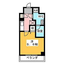 LUMEED川崎 3階1Kの間取り