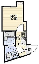 メゾンエクセル川崎[201号室]の間取り
