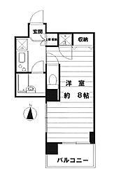 藤和渋谷コープII[702号室]の間取り