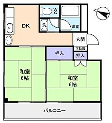 ホワローゼ山田[3階]の間取り