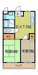 セジュール・ド・ミワ弐番館[3階]の間取り