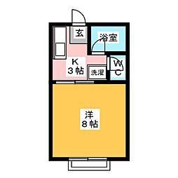 うらしまハイツ 新田[1階]の間取り