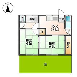 [一戸建] 愛知県名古屋市北区楠4丁目 の賃貸【/】の間取り