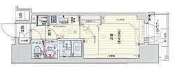 Osaka Metro谷町線 四天王寺前夕陽ヶ丘駅 徒歩5分の賃貸マンション 2階1Kの間取り