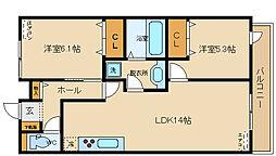 モンクレール 青山[2階]の間取り