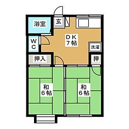 ドミール多賀城[1階]の間取り