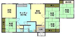 北海道小樽市桜5丁目の賃貸アパートの間取り