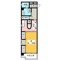 Wohnung K[8階]の間取り