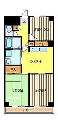 シャトー・レ・セルズィエール[5階]の間取り