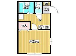 兵庫県神戸市垂水区中道5丁目の賃貸アパートの間取り