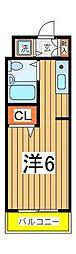 ピュア天王台[103号室]の間取り