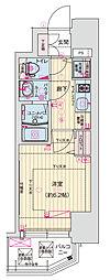 Osaka Metro千日前線 玉川駅 徒歩1分の賃貸マンション 8階1Kの間取り