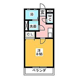 愛知県知多市大草字大瀬の賃貸アパートの間取り