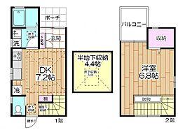 [一戸建] 東京都足立区千住旭町 の賃貸【/】の間取り