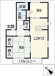 レグルスB棟[1階]の間取り