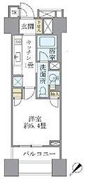 東京メトロ銀座線 銀座駅 徒歩6分の賃貸マンション 6階1Kの間取り