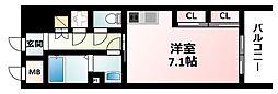 Osaka Metro御堂筋線 西中島南方駅 徒歩2分の賃貸マンション 10階1Kの間取り