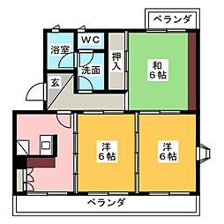 ラ・カシタ・グリスIII[3階]の間取り