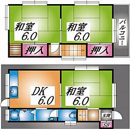 [一戸建] 兵庫県神戸市東灘区西岡本3丁目 の賃貸【/】の間取り
