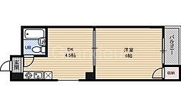 鶴見シャトークワジマ[2階]の間取り