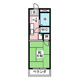フジタハイツII[2階]の間取り