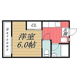 千葉県千葉市稲毛区黒砂台3の賃貸マンションの間取り