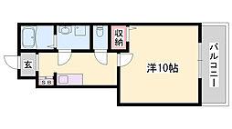 JR東海道・山陽本線 土山駅 バス15分 小池前下車 徒歩3分の賃貸アパート 1階1Kの間取り