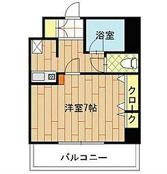 エステート博多駅南ハウス[605-1号室]の間取り