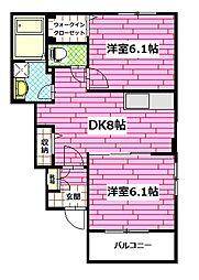 広島県広島市安佐南区相田6丁目の賃貸アパートの間取り