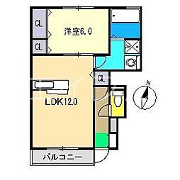 セジュールウィット[1階]の間取り