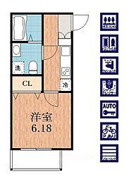 大阪府大阪市生野区巽南3丁目の賃貸アパートの間取り