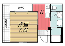 JR総武線 千葉駅 徒歩12分の賃貸マンション 1階1Kの間取り