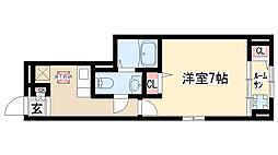 愛知県名古屋市緑区亀が洞2丁目の賃貸アパートの間取り