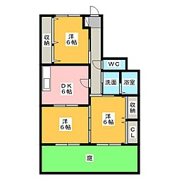 丸竹マンション[1階]の間取り