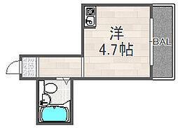 大阪府大阪市福島区海老江6丁目の賃貸マンションの間取り