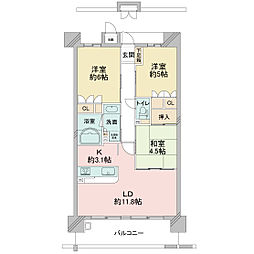 KWレジデンス日本橋[0602号室]の間取り